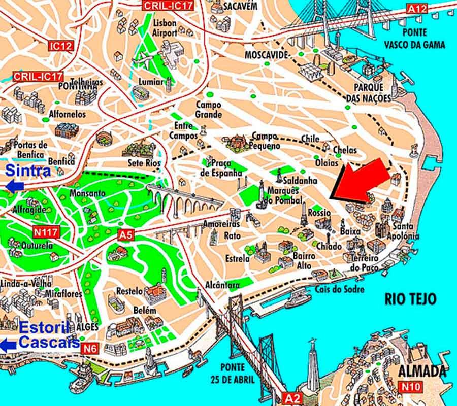 Mapa de Lisboa TGDV