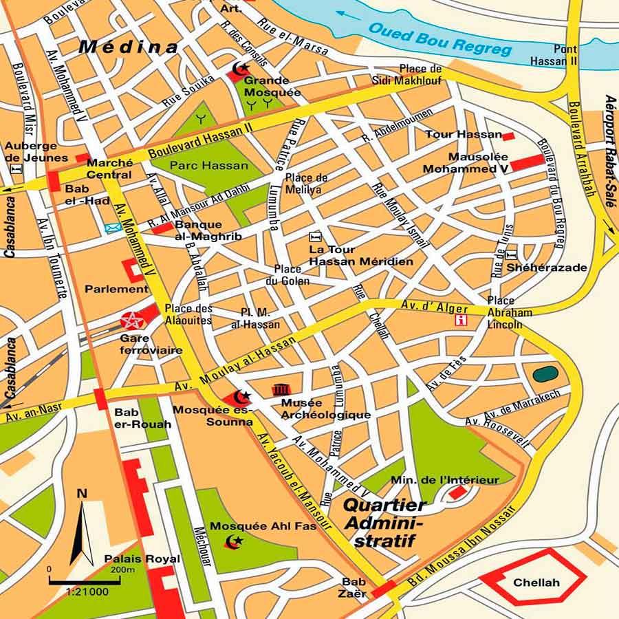 Mapa de Rabat TGDV