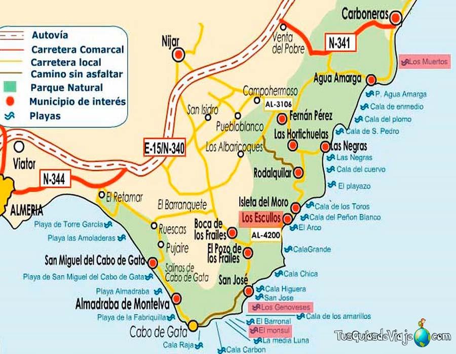 Mapa Cabo de Gata TGDV
