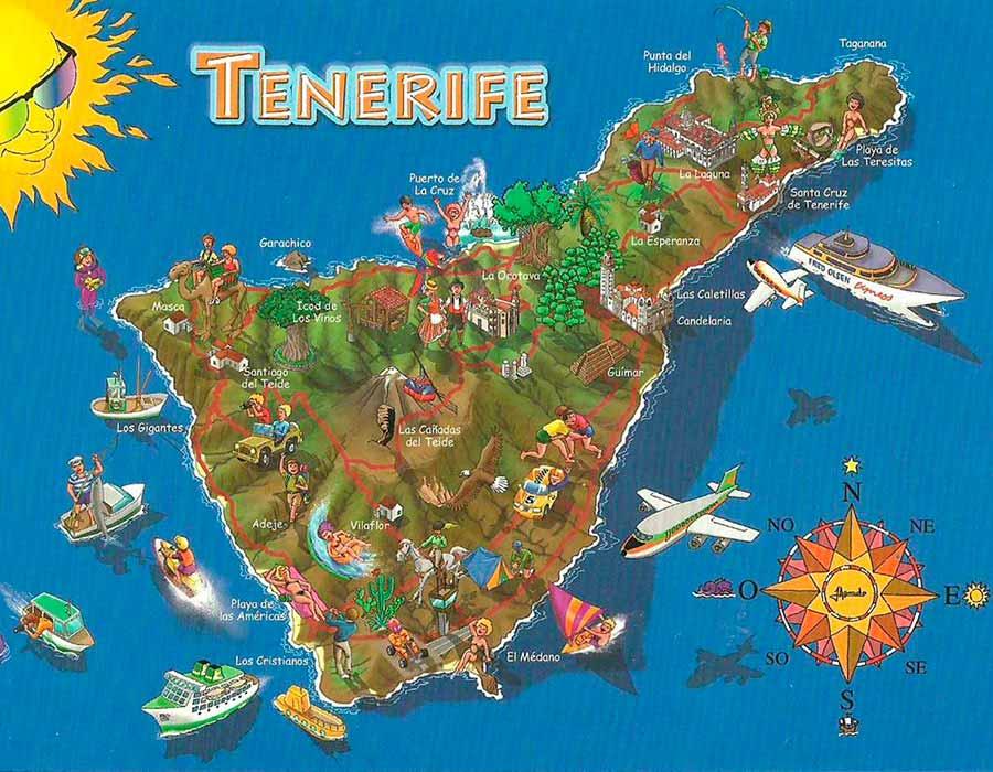 Tenerife Mapa TGDV