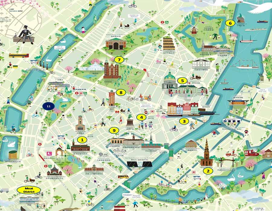 Copenhague mapa TGDV