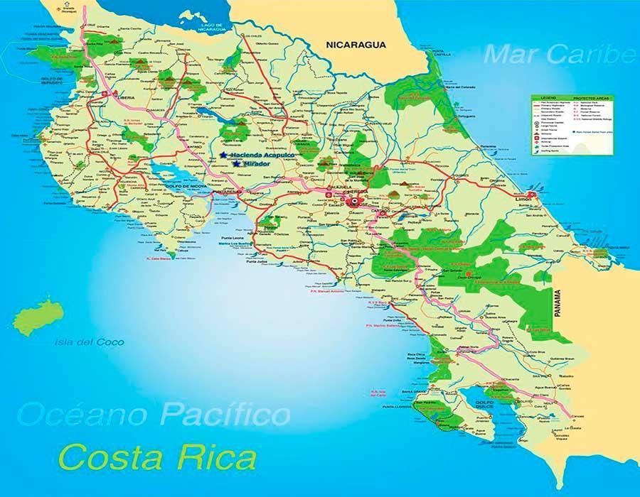 Costa Rica mapa TGDV