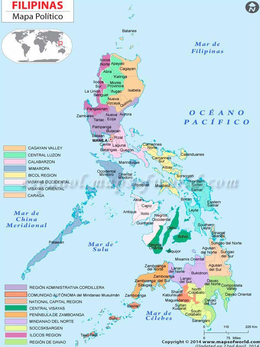 Filipinas Mapa TGDV