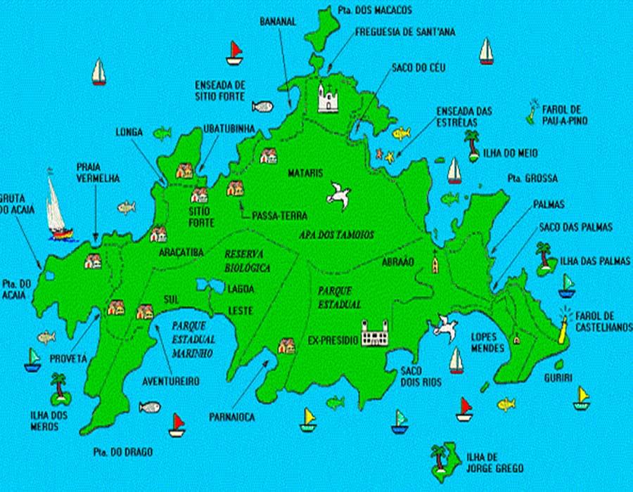 Illa Grande mapa