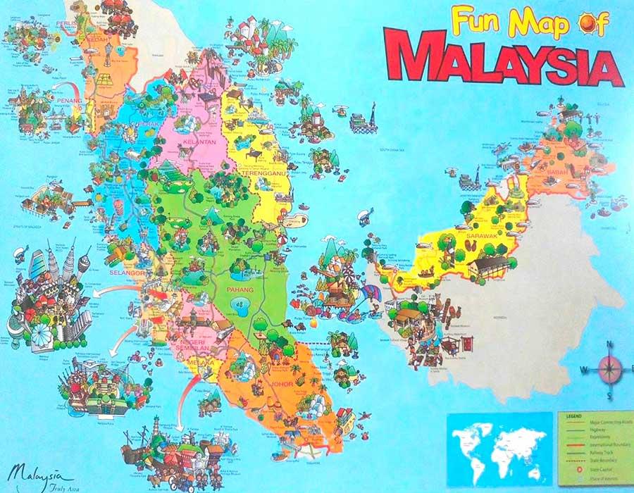 Malasia mapa TGDV