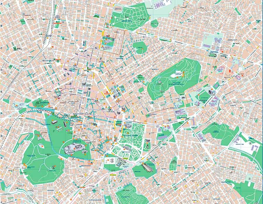 Mapa Atenas TGDV