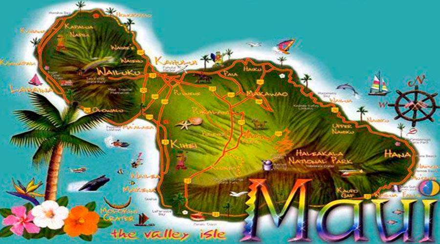 Mapa Maui TGDV