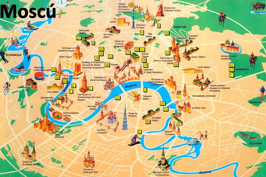 Mapa Moscú TGDV