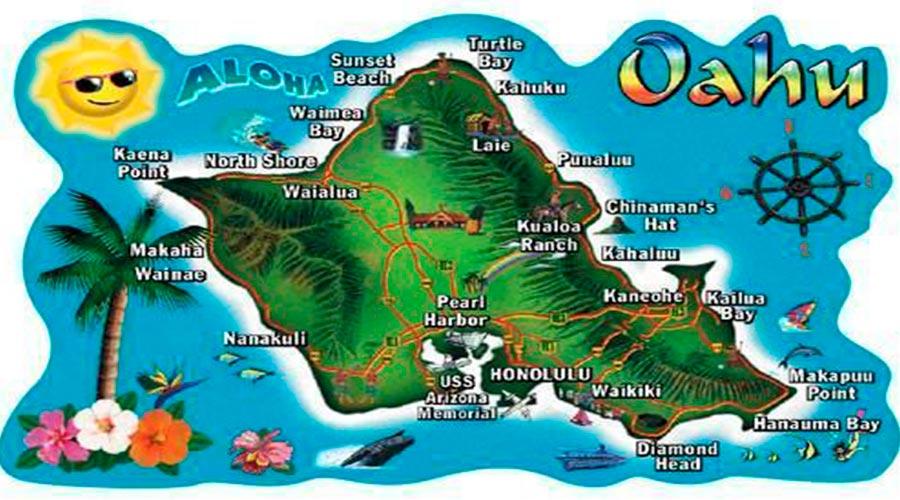 Mapa Oahu TGDV