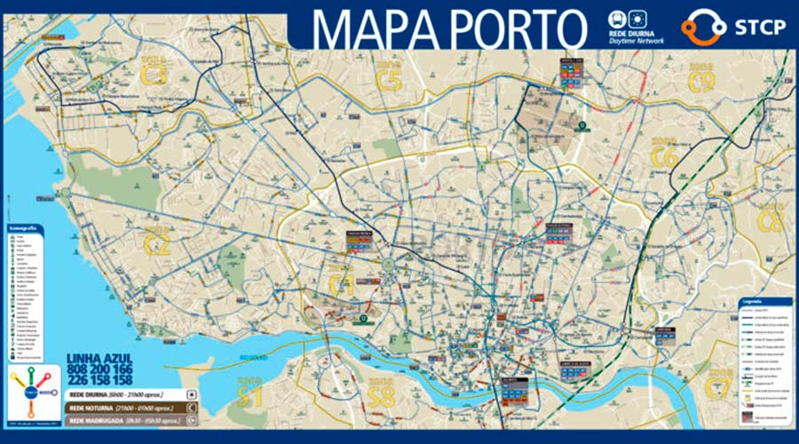 Mapa Oporto TGDV