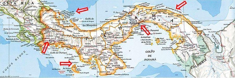 Mapa Panama TGDV