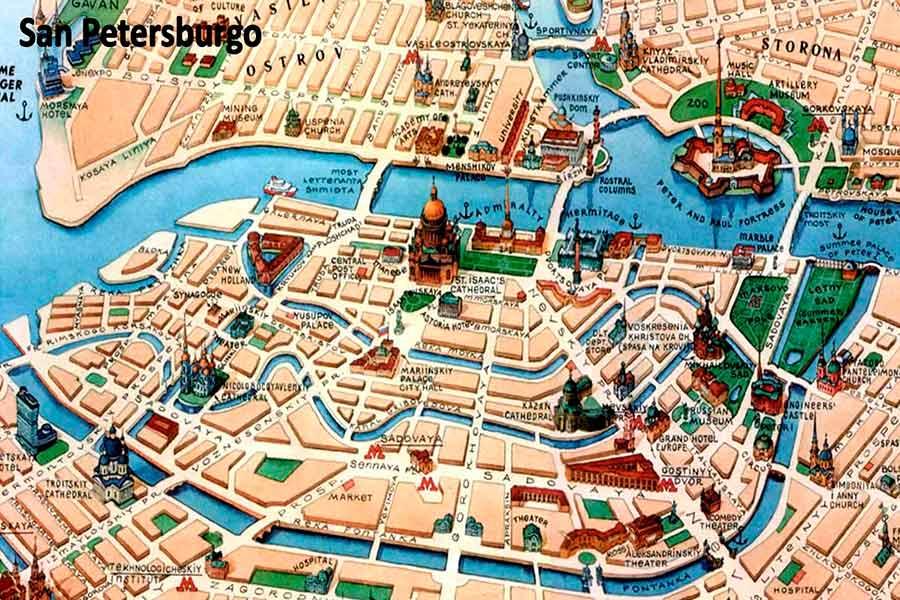 Mapa San Petersburgo TGDV