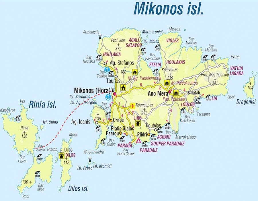 Mikonos mapa tgdv