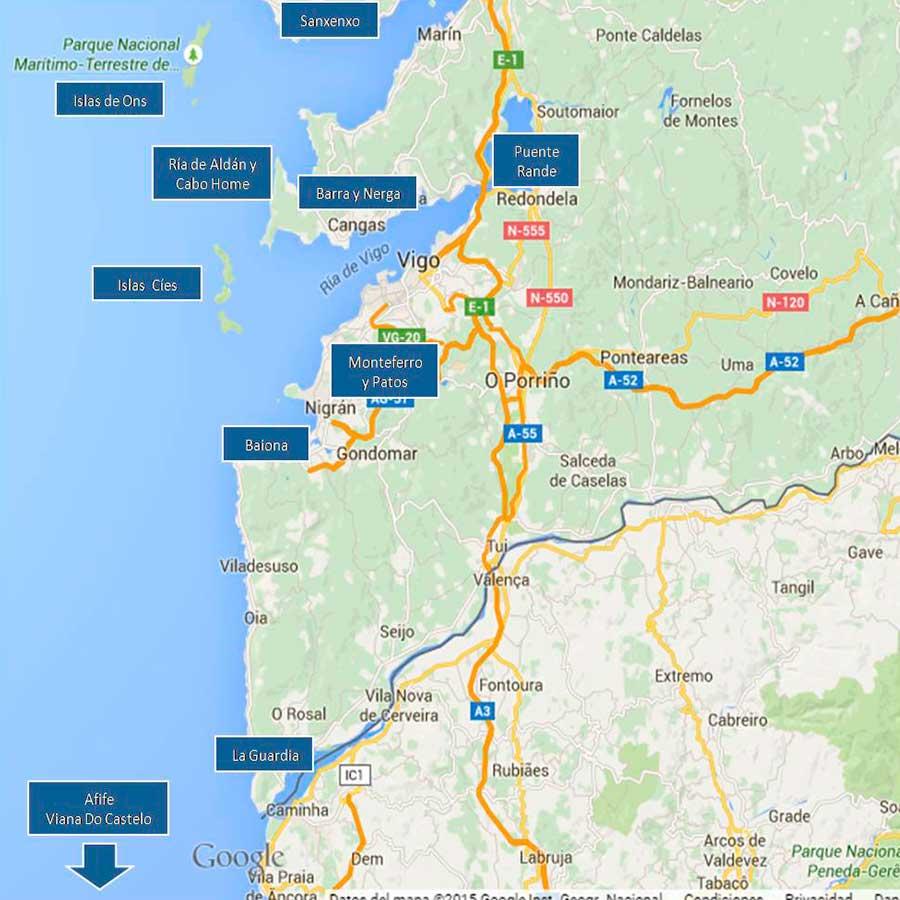 Ria de Vigo mapa TGDV