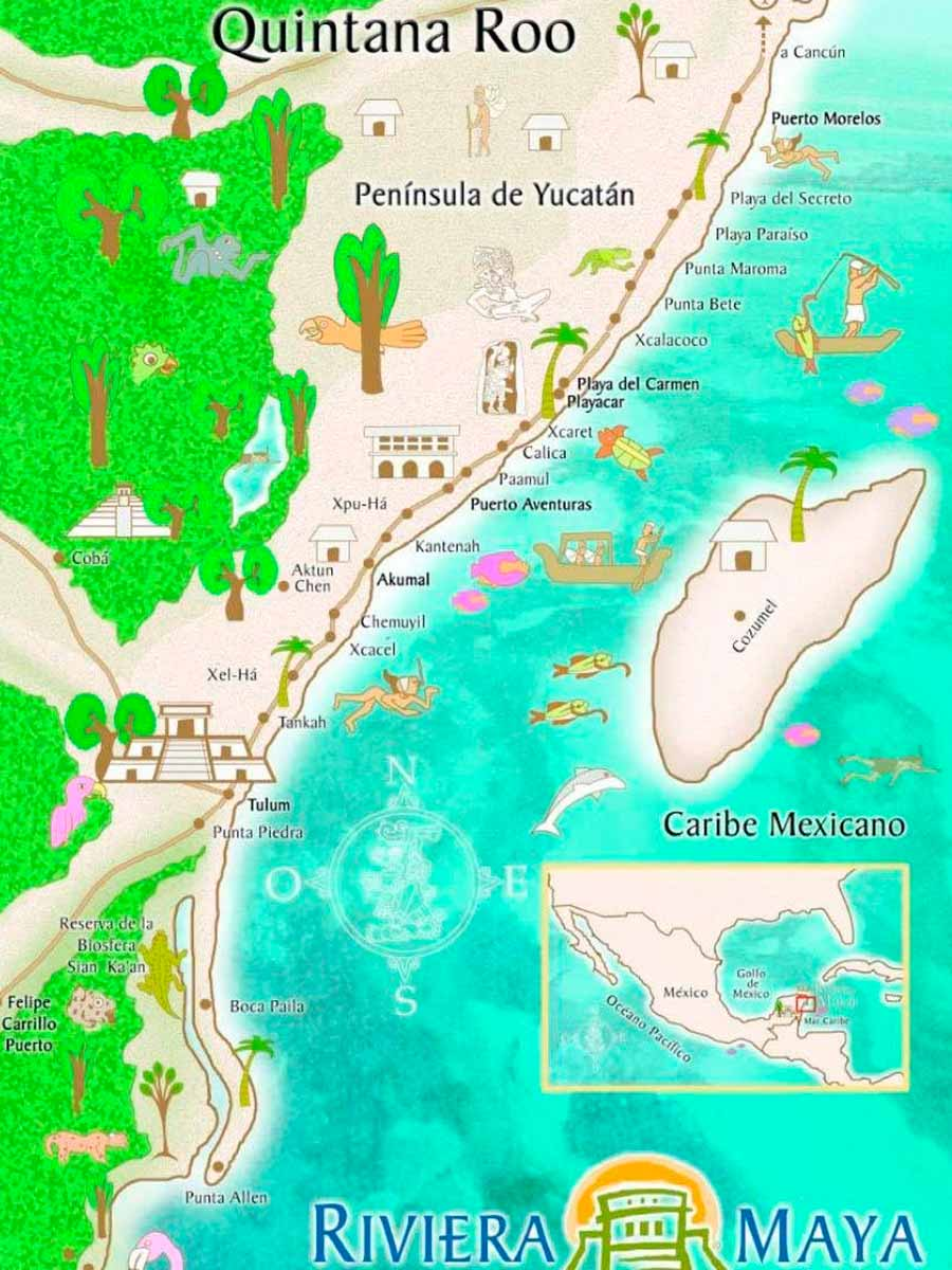 Riviera Maya Mapa