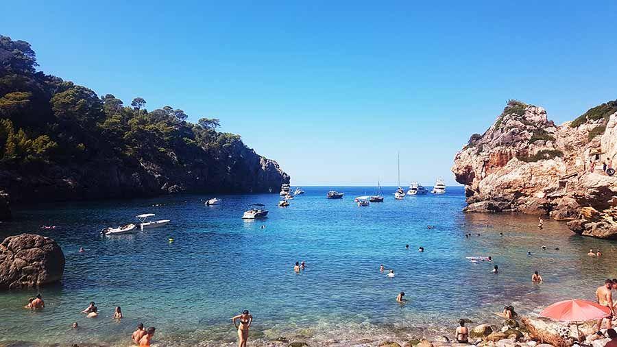 Cala de Deyá en Mallorca