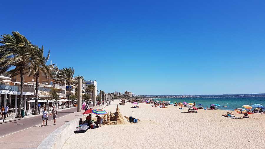Playa del Arenal en Mallorca