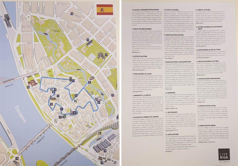 Mapa de Riga - Qué ver en Riga