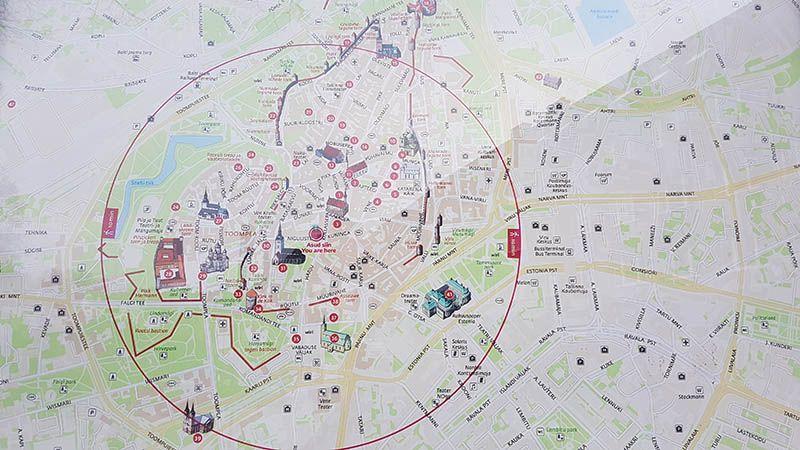 Mapa de Tallin - Que ver en Tallin
