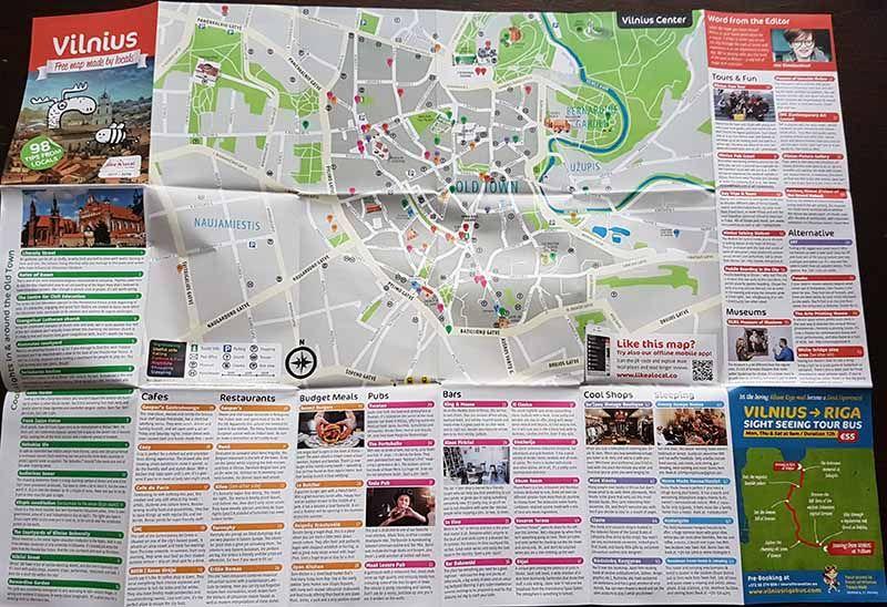 Mapa de Vilna - Que ver en Vilna