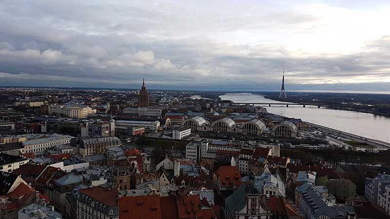 Mejores miradores en Riga - Iglesia de San pedro