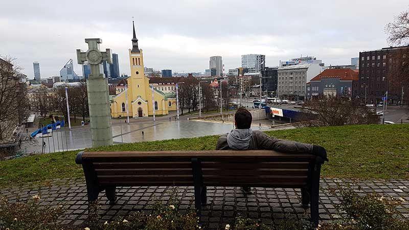 Plaza de los heroes en Tallin