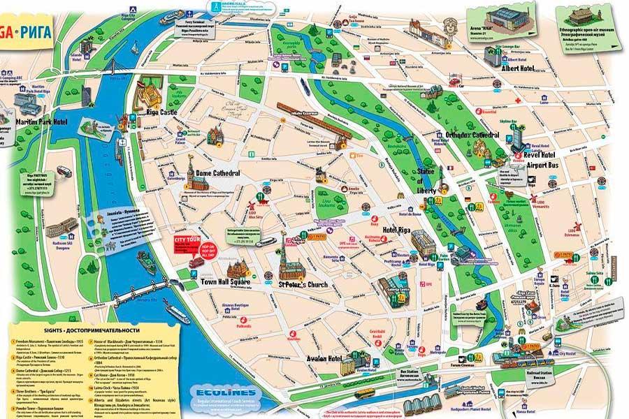 RIGA mapa