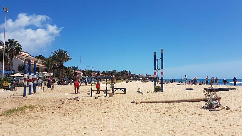 Playas de Santa María en Isla de Sal