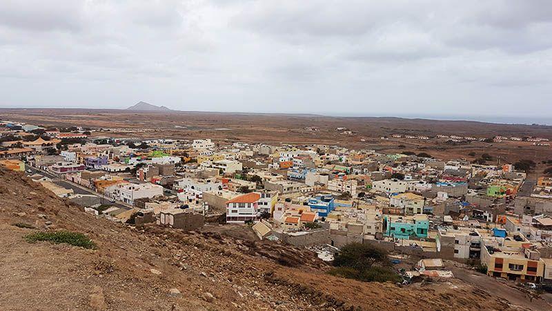 Vistas desde Espargos de la Isla de Sal
