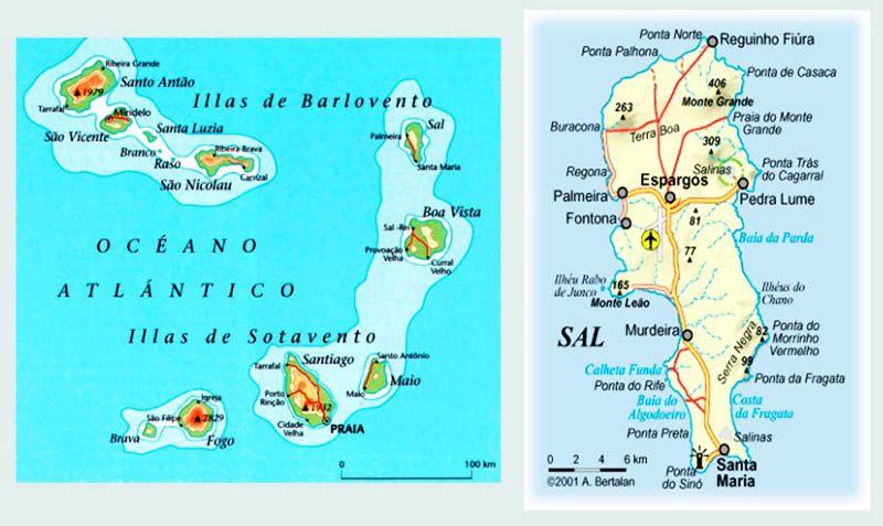 Mapa Isla de Sal Cabo Verde