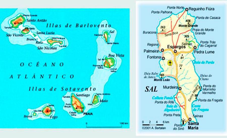 Isla de la Sal mapa