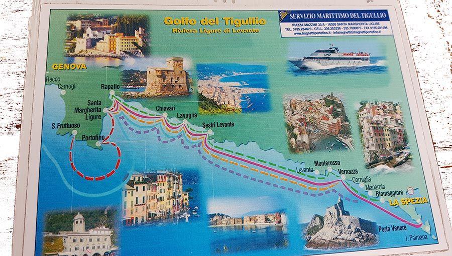 Mapa de Costa de Liguria