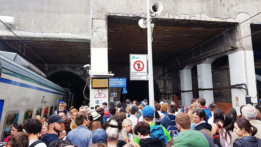 La mejor forma de llegar a Cinque Terre es el tren