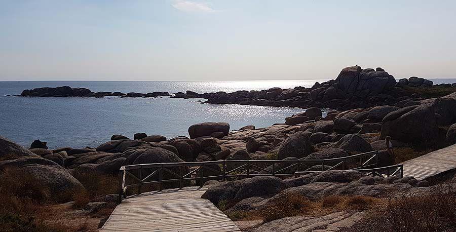 Paseo de Pedras Negras en Galicia