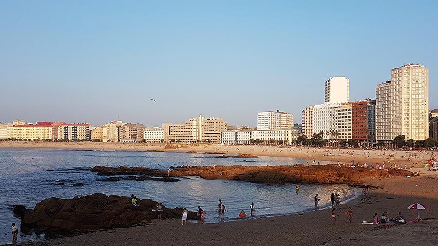 Playa de La Coruña Galicia