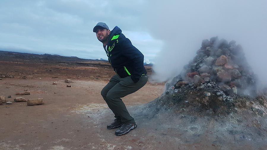 Tierras volcánicas en islandia