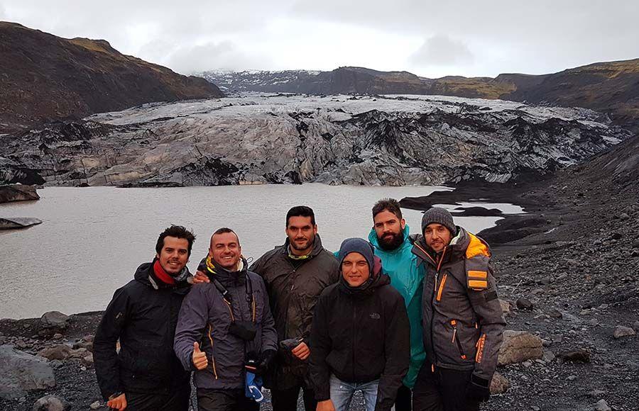 Glaciares en Islandia Sólheimajökull