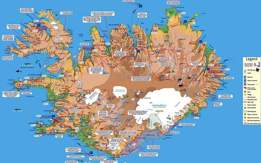 Mapa de Islandia TGDV