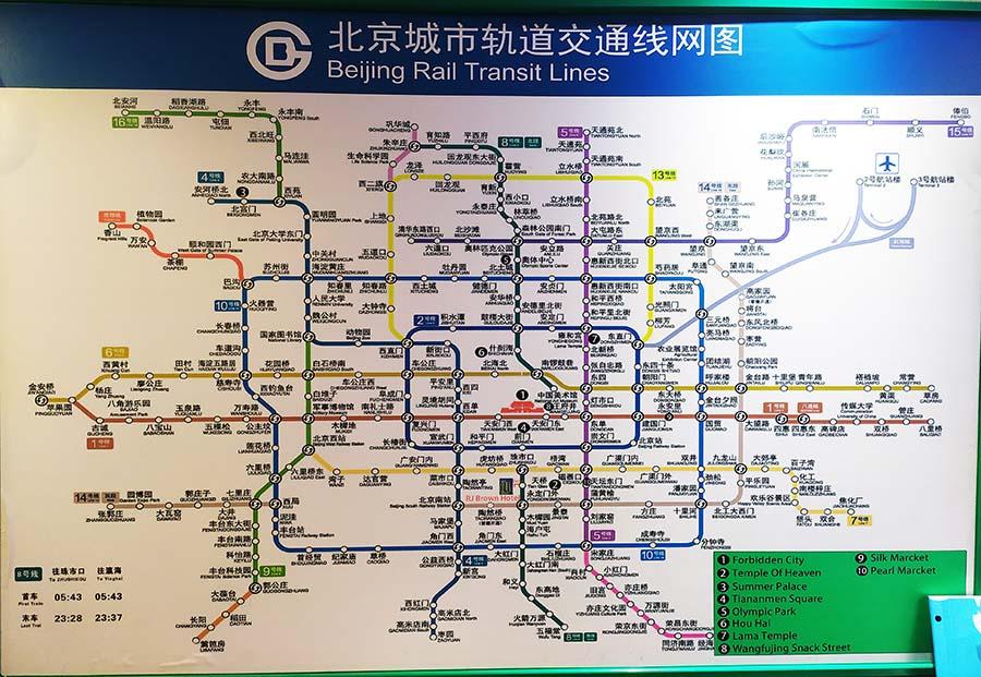 Plano de metro de Pekin