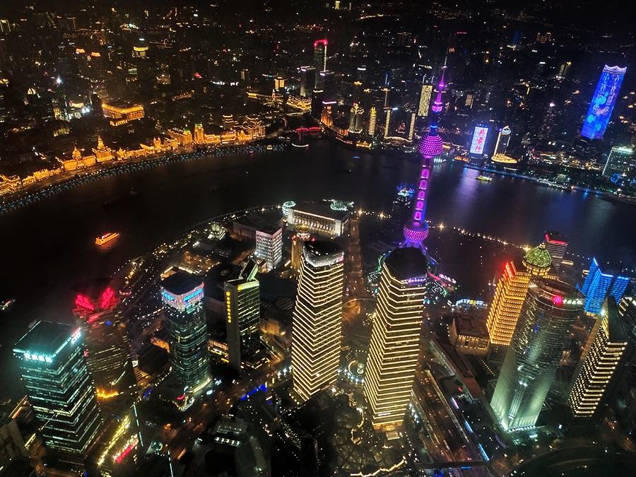 Vista panorámica de Shanghai