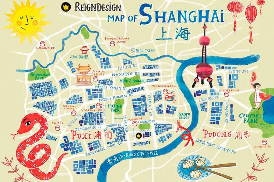 Mapa de Shanghái