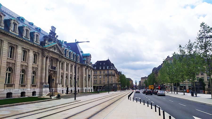 Avenida de la Libertad en Luxemburgo