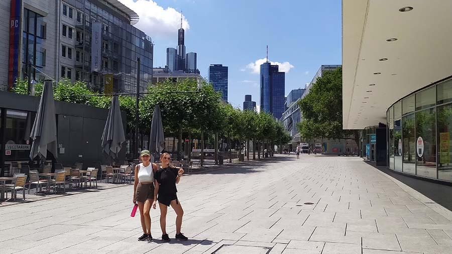 Calle Zeil en Frankfurt